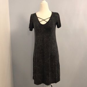 Marble look soft and stretchy dress